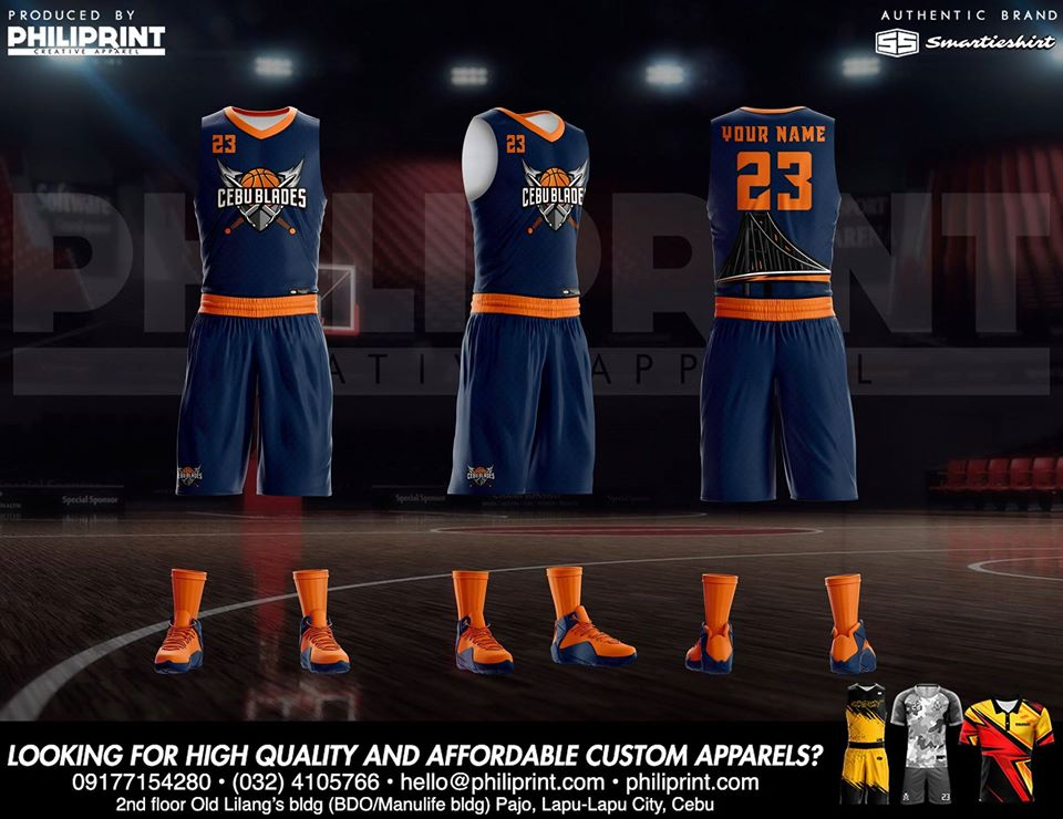 Philiprint Cebu Blades Full Sublimation Basketball Jersey