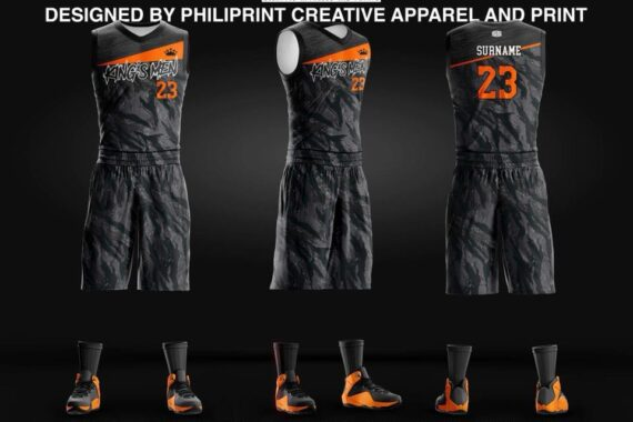 Philiprint Basketball Jersey Full Sublimation KING'S MEN