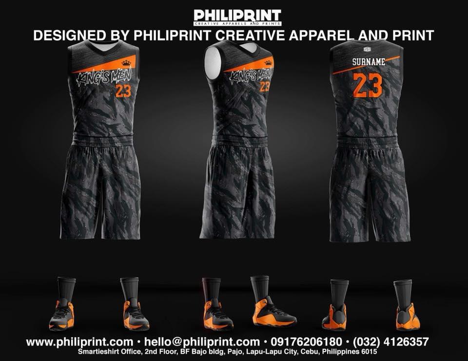 Philiprint Basketball Jersey Full Sublimation KING'S MEN
