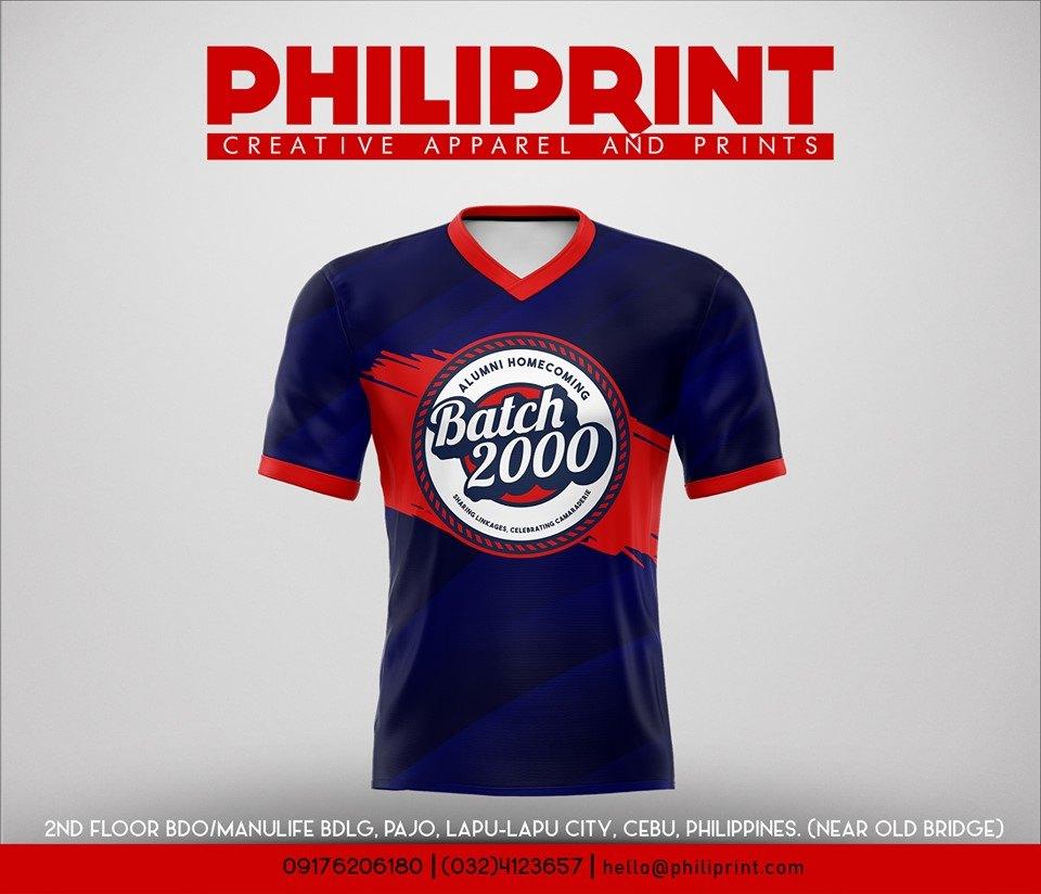 Philiprint Costum T-shirt Full Sublimation Batch 2000 Alumni Uniform