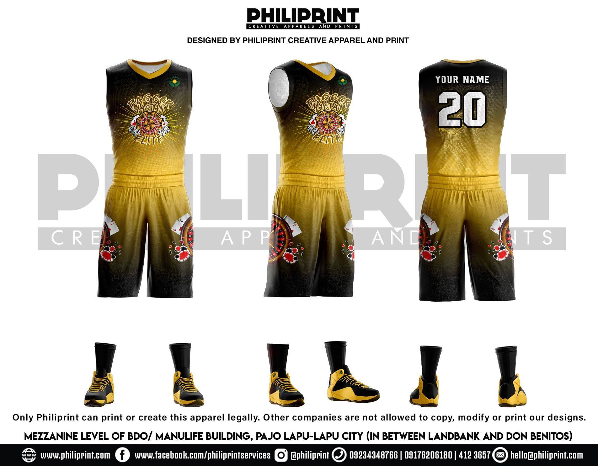 Philiprint Basketball Jersey Full Sublimation PAGCOR MACTAN ELITE