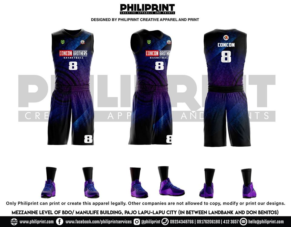 Philiprint Basketball Jersey Full Sublimation CONCON BROTHERS