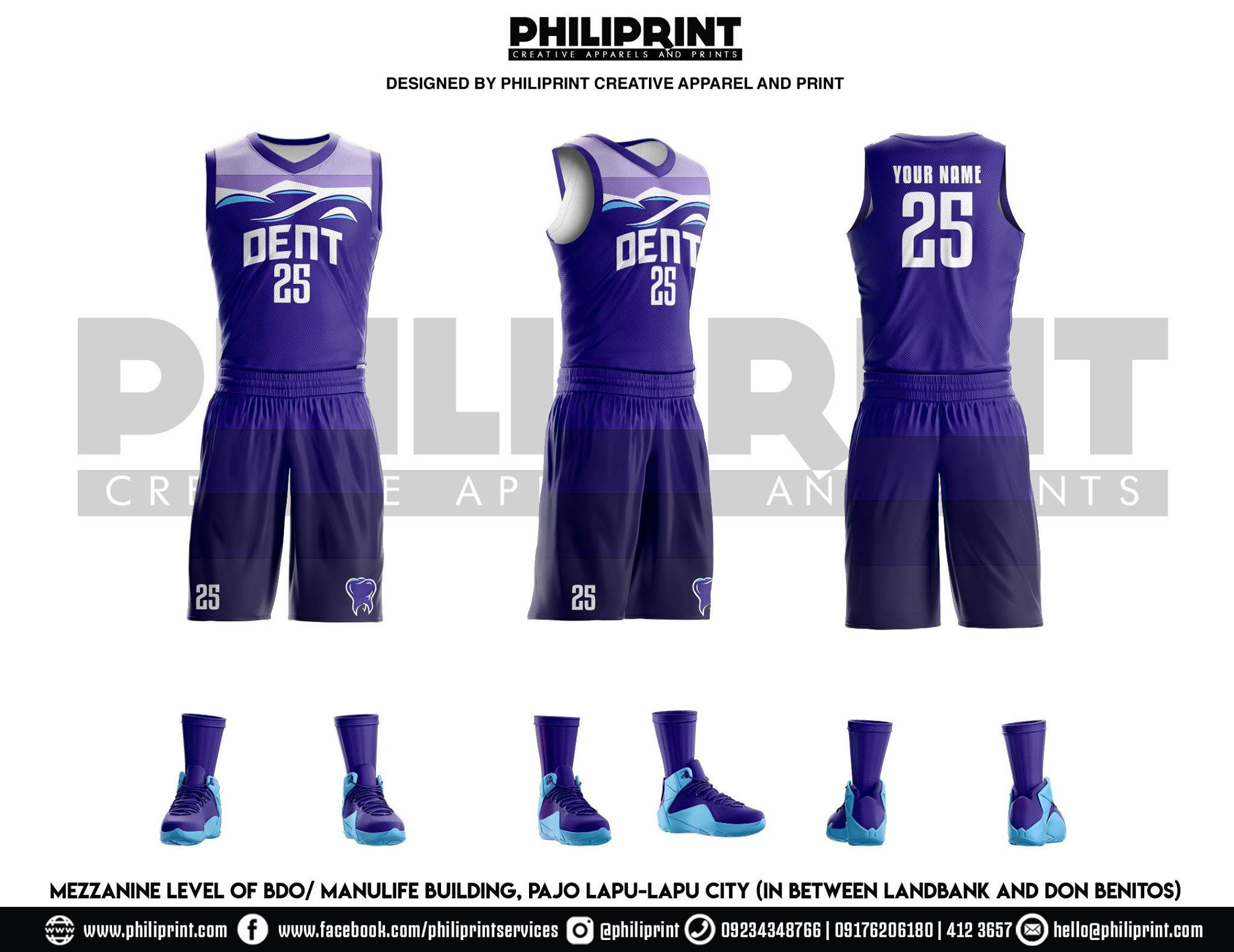 Philiprint Basketball Jersey Full Sublimation DENT
