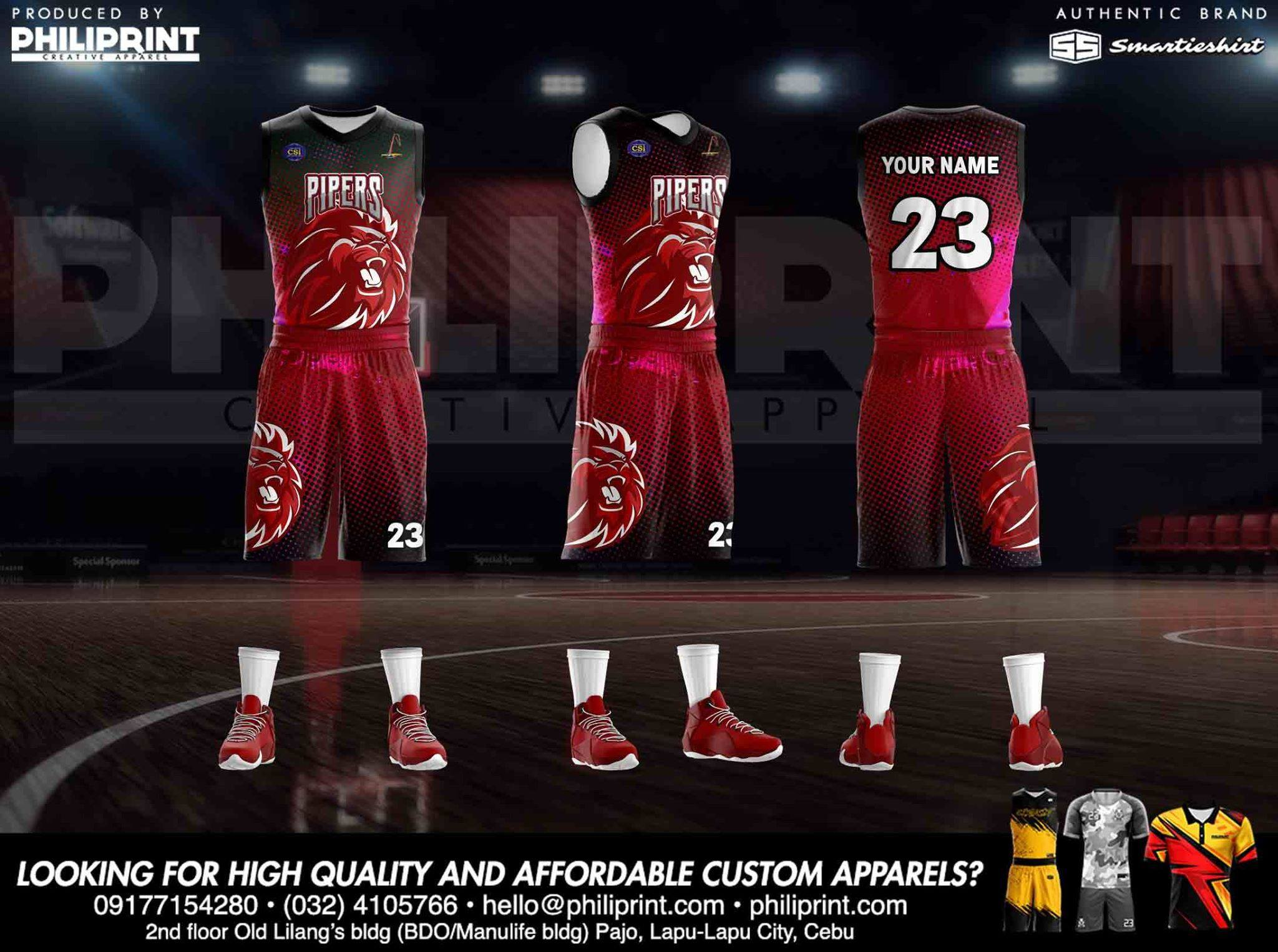 Philiprint Basketball Jersey Full Sublimation PIPERS