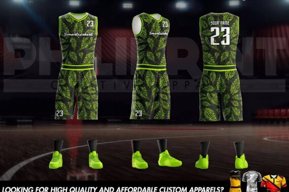 Philiprint Basketball Jersey Full Sublimation Smartieshirt Leaves