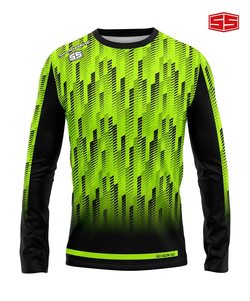 Philiprint Smartieshirt Go Glow Go Long Sleeve Full Sublimation Motorcycle Jersey