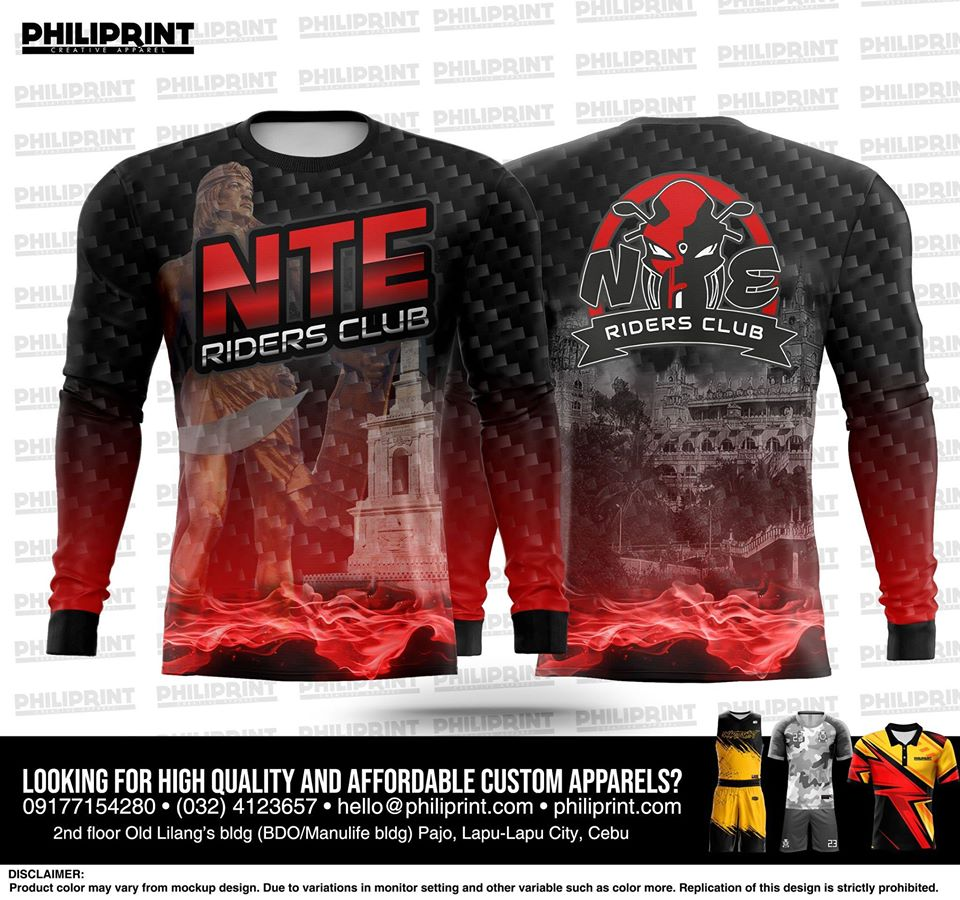 Philiprint NTE RIDERS CLUB Long Sleeve Full Sublimation Motorcycle Jersey