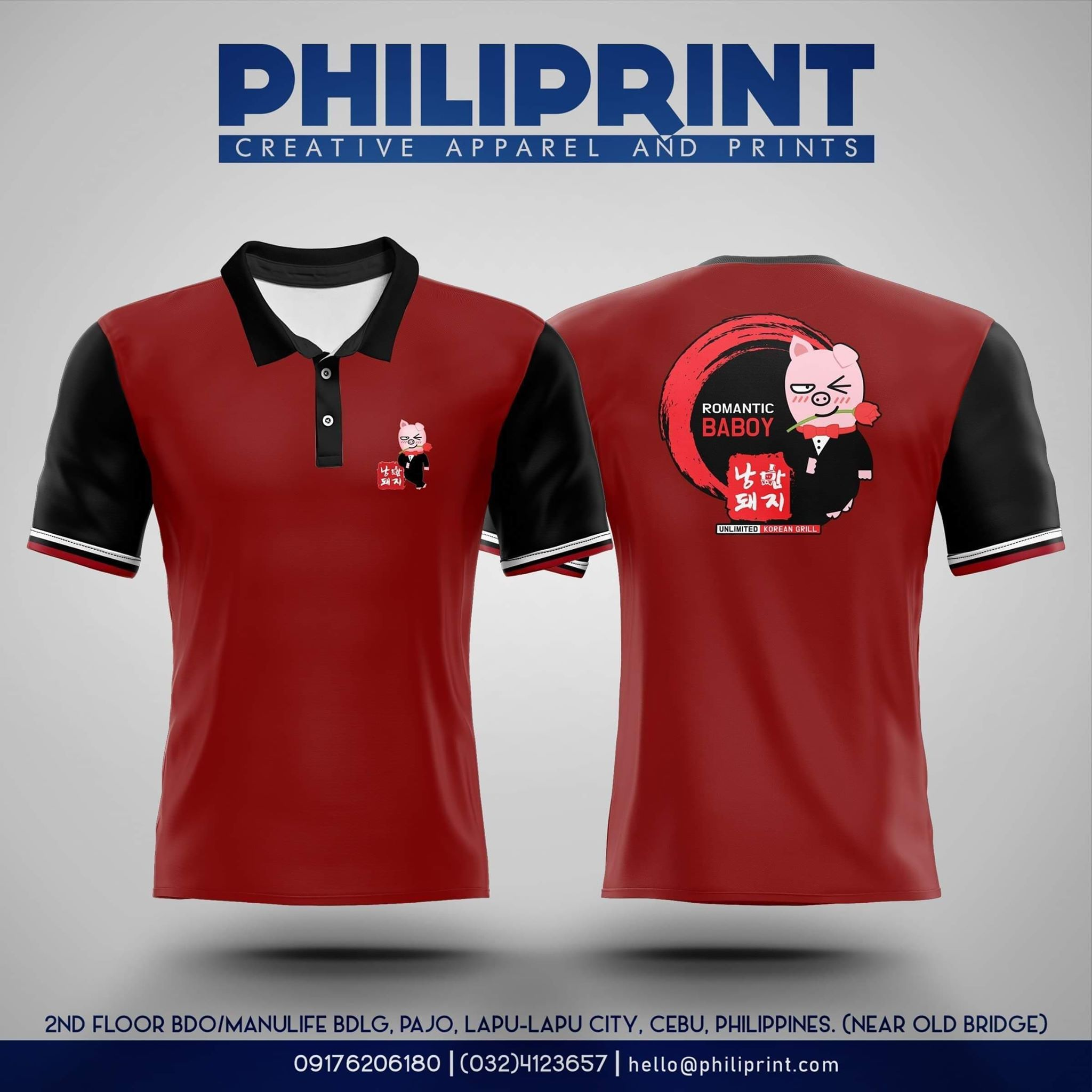 Philiprint Full Sublimation Men Polo Shirt Romantic Baboy
