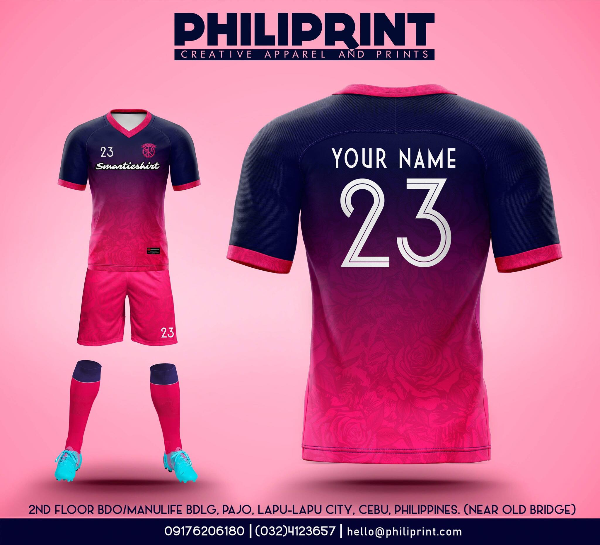 Philiprint Football Jersey Full Sublimation Smartieshirt
