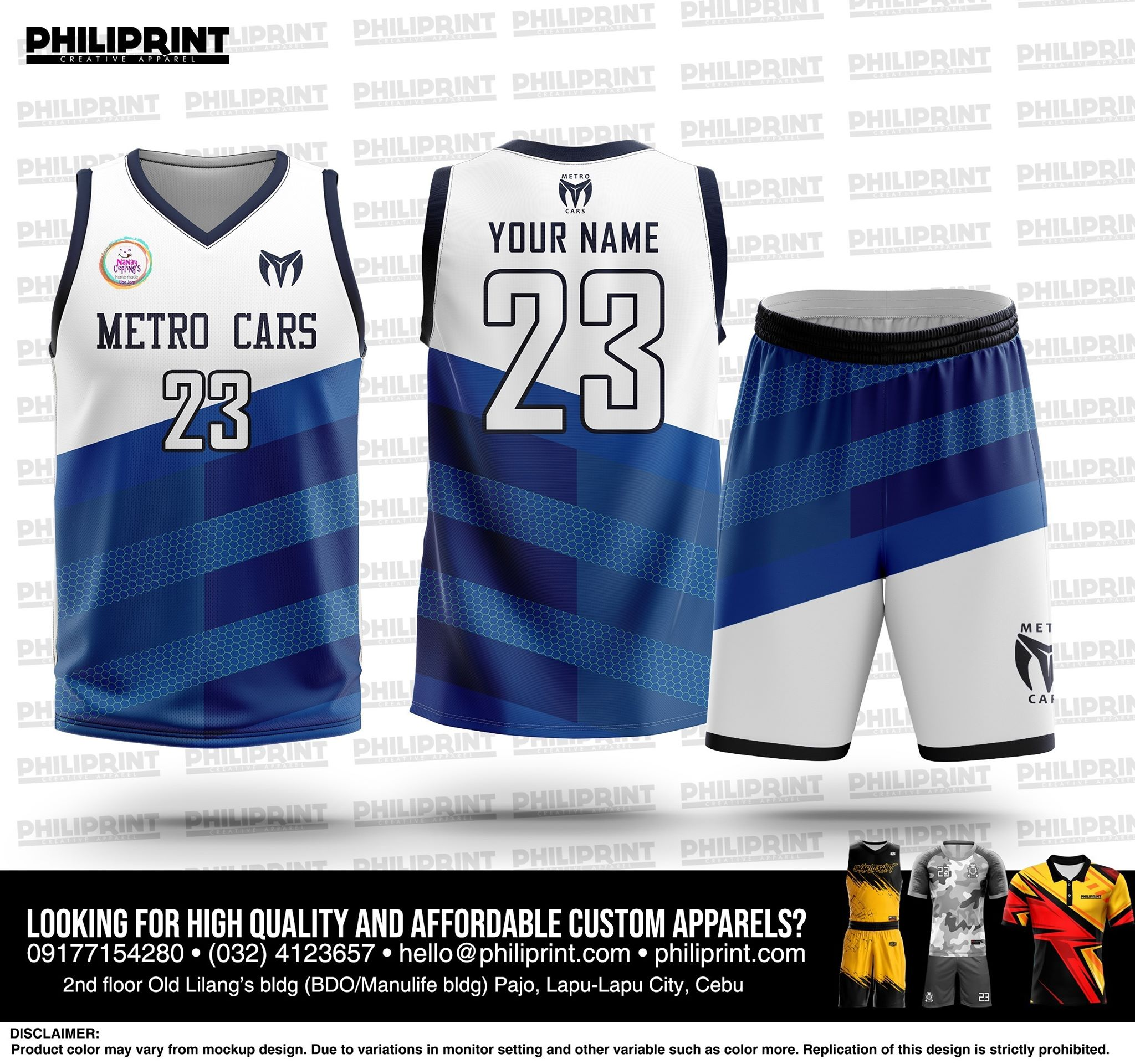 Philiprint METRO CARS Basketball Jersey Full Sublimation