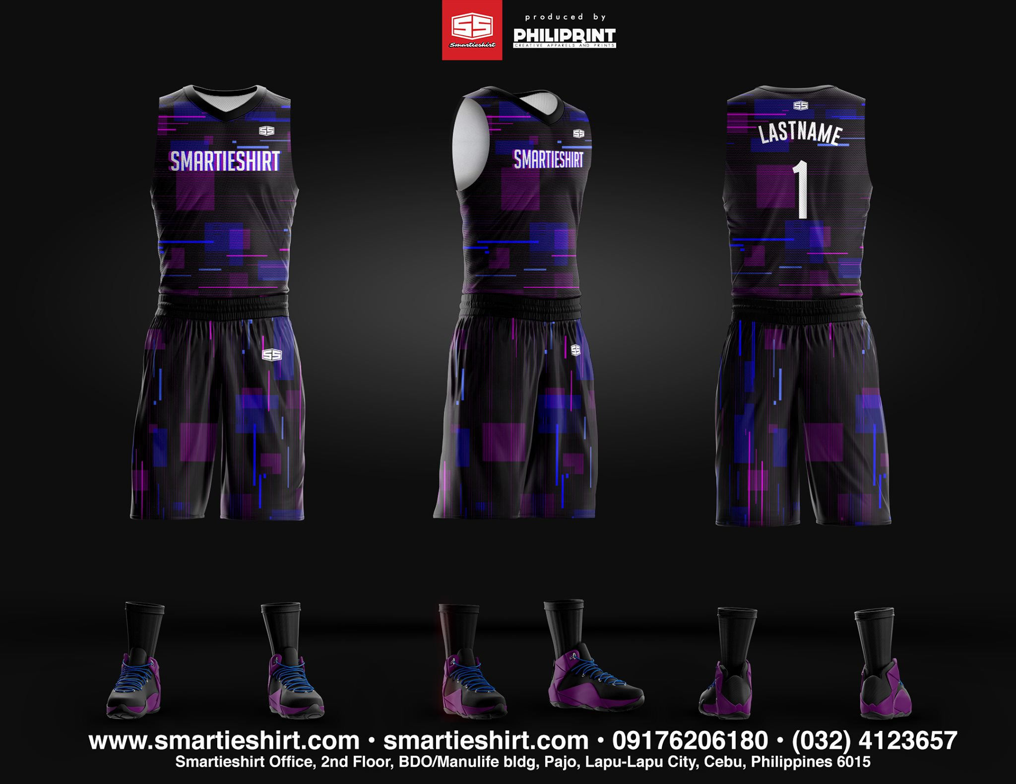 Philiprint Basketball Jersey Full Sublimation Smartieshirt