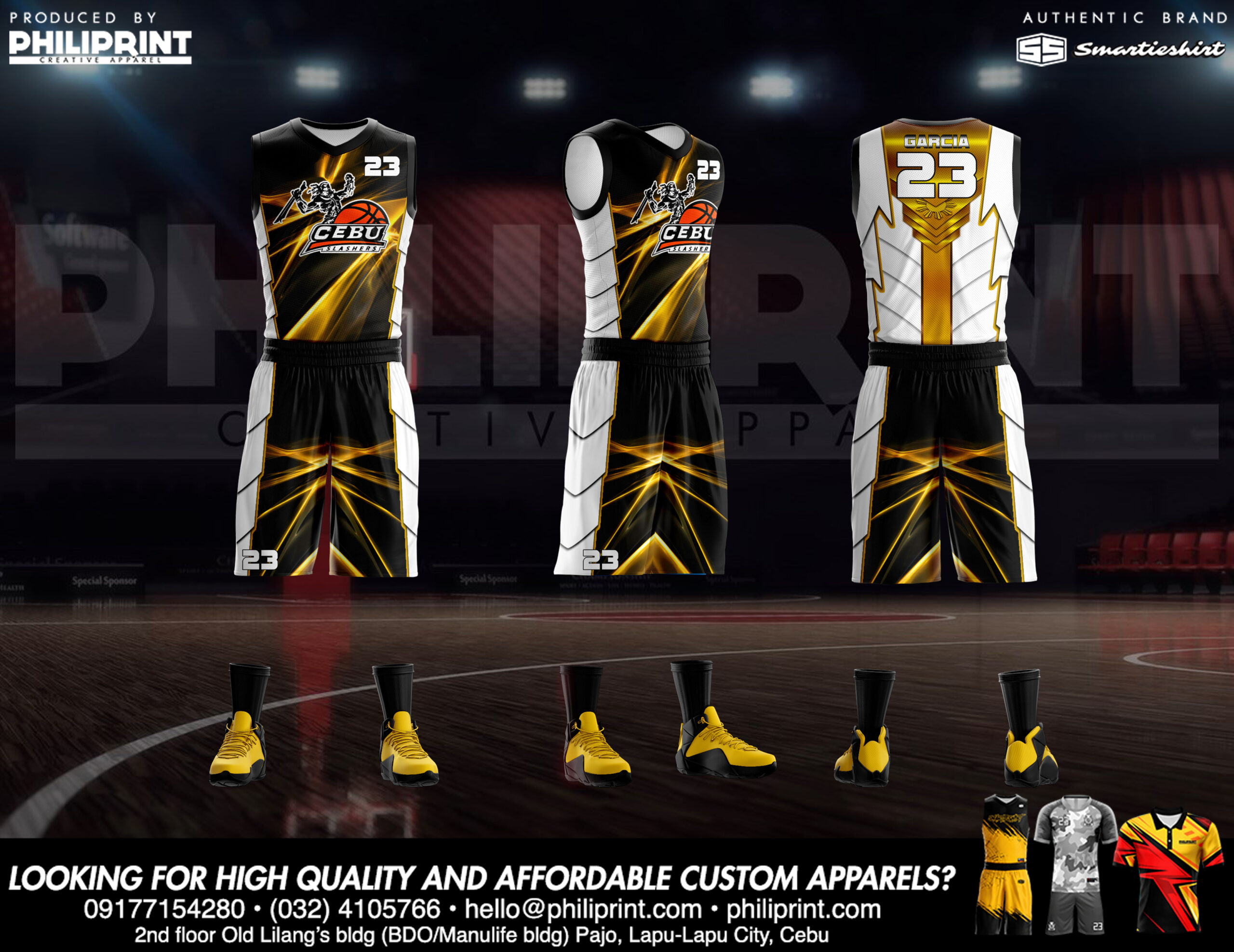 Philiprint Basketball Jersey Full Sublimation CEBU SLASHERS