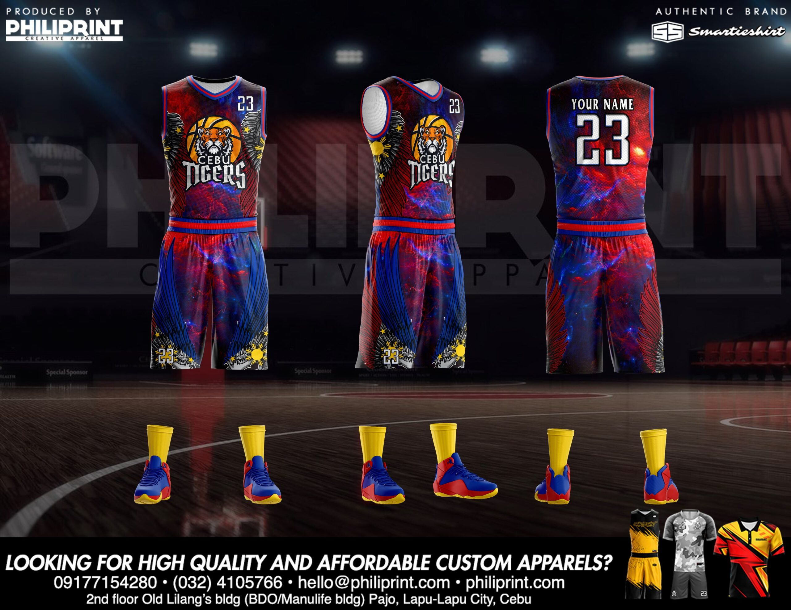 Philiprint Basketball Jersey Full Sublimation CEBU TIGERS