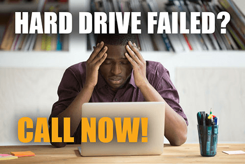 failed hard drive data recovery call now