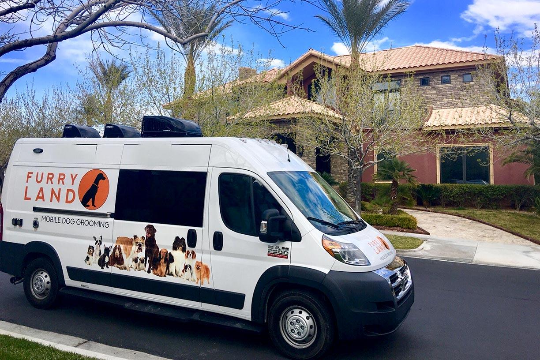 Furry Land Van With Door Closed