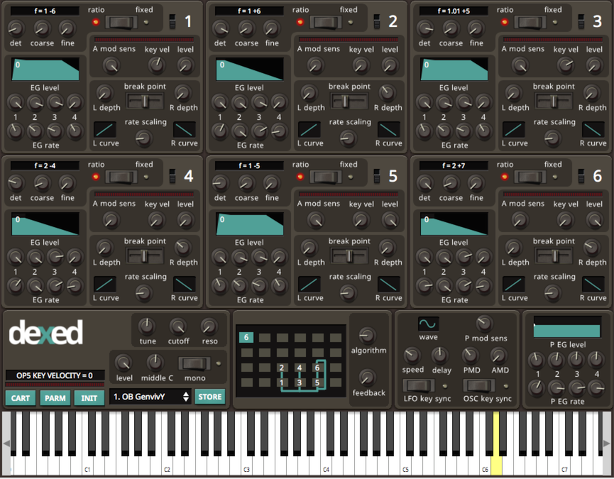 Dexed free vst plugin synth FM