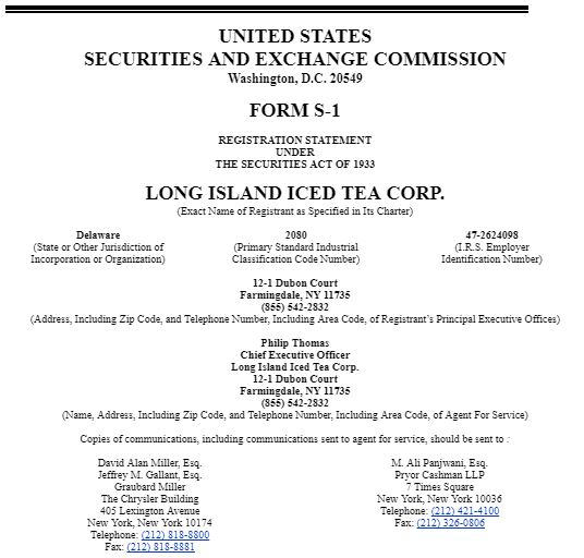 $LTEA, LTEA, Long Island Iced Tea