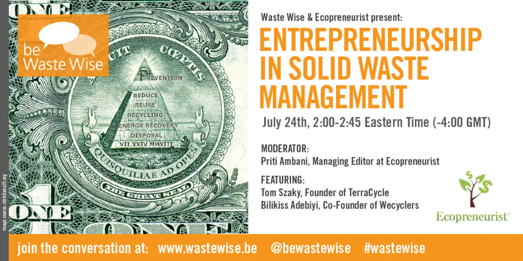Entrepreneurship in Solid Waste Management: Be Waste Wise Panel