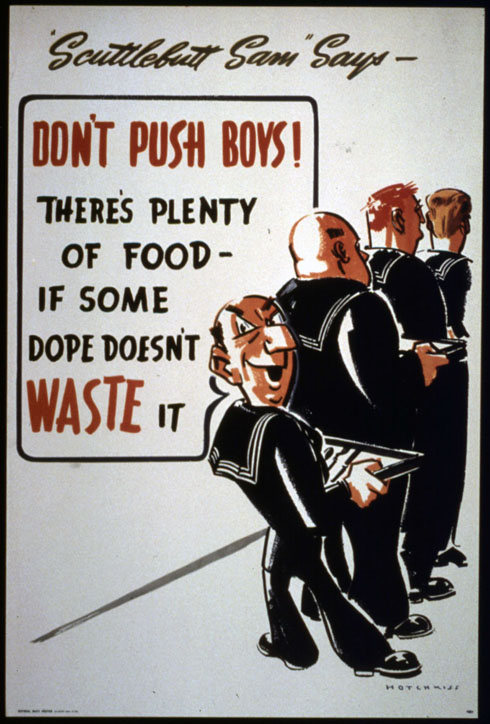 Image: A poster released during World War II by USA's War Production Board (Office for Emergency Management); Source: archives.org