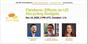 Pandemic Effects on US Recycling Budgets