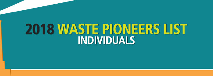 2018 Waste Pioneers List – Individuals