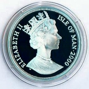 Greenwich Meridian Line Isle Of Man 2000 1 Crown Legal Tender Limited Mintage Of 10,000 Silver Proof Commemorative Coin Uncirculated Back