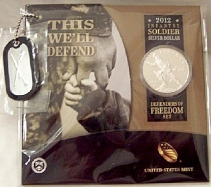 2012-W~~US Mint Infantry Soldier Silver Dollar~~Defenders of Freedom Set