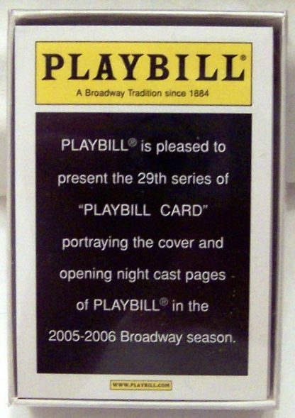 Playbill 2005-2006 Broadway Season #39 Collector Cards Including Jersey Boys New In Pack Front Stock Photo