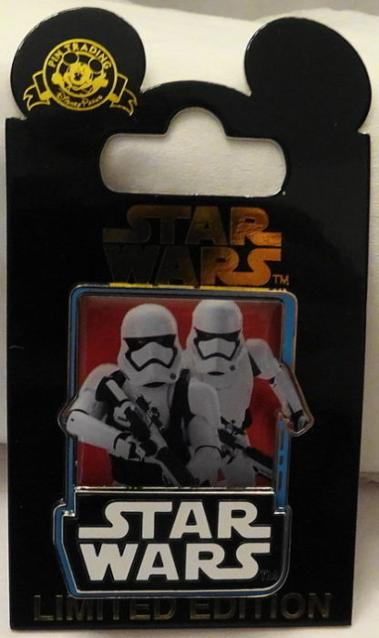 Force Awakens Stormtroopers Pin Countdown #& New On Card Front