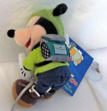 Disney WDW Hiking Mickey 6 Inch Plush Includes Suction Cup New Back
