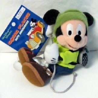 Disney WDW Hiking Mickey 6 Inch Plush Includes Suction Cup New Front