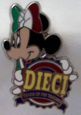 Disney WDW Minnie DIECI 10th Anniversary Trading Mystery Pin New Front
