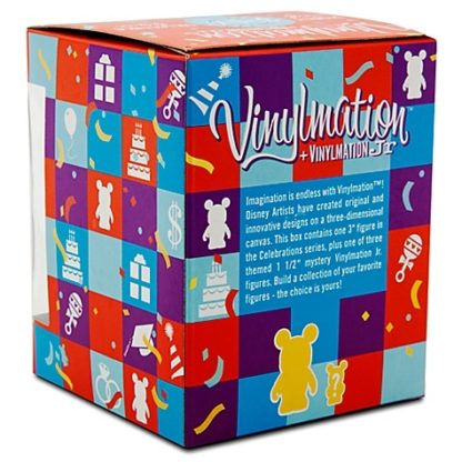 Disney Boy Celebrations Vinylmation 3'' Figure + Jr New In Box Back