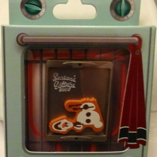 Disney Frozen Olaf Pin Season's Eatings Xmas LE New In Collector's Box Front