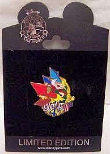 Disney Grumpy Pin July 4th LE 250 New On Card Front