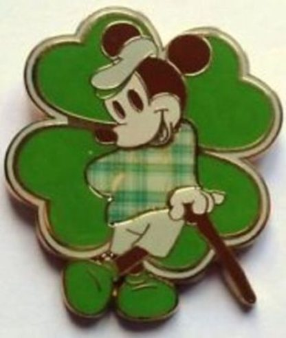 Disney Irish Mickey Pin Shamrock Happy St Patrick's Day New Front