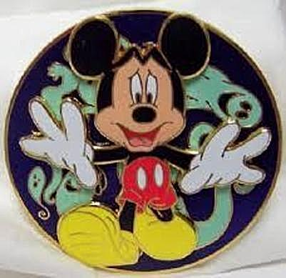 Disney Spooky Mickey Mouse Jumbo Spinner LE 250 Pin New Front