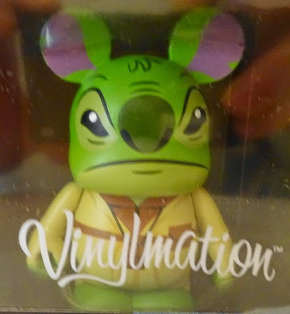 Disney Yoda Stitch Vinylmation Star Wars Figure New In Box Closeup