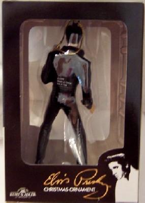 Elvis Black Jumpsuit Ornament Kurt S. Adler Christmas New In Box Back