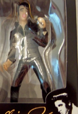 Elvis Black Jumpsuit Ornament Kurt S. Adler Christmas New In Box Front Closeup