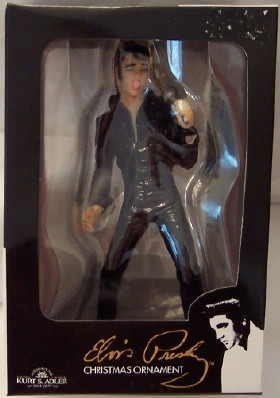 Elvis Black Jumpsuit Ornament Kurt S. Adler Christmas New In Box Front