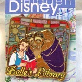 Hidden Disney Belle Pin Beauty & Beast 2006 LE 3D New On Card