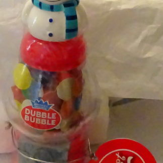 Snowman Christmas Gumball Dispenser (Mini) Dubble Bubble New Front