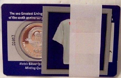 FIFA Beckham Silver Medal New Back