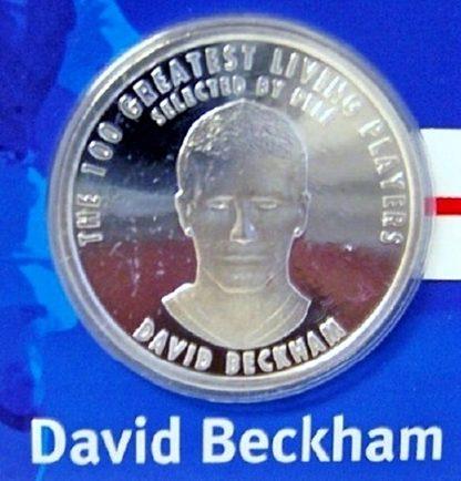 FIFA Beckham Silver Medal New Beckham Closeup