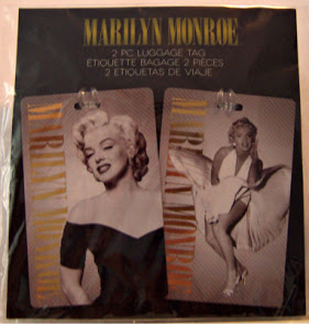 Marilyn Monroe Luggage Tags #2 The Seven Yearr Itch Photo + Black Dress Photo New Front