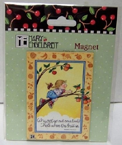 Mary Engelbreit Out On A Limb Mark Twain Quote Magnet New Front