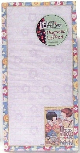 Mary Engelbreit The Best Antiques Are Old Friends Magnetic Listpad New Front