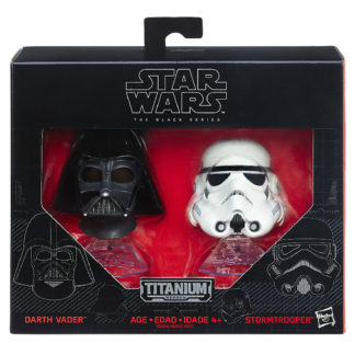 Darth Vader Stormtrooper Helmets Star Wars Diecast New In Box Front