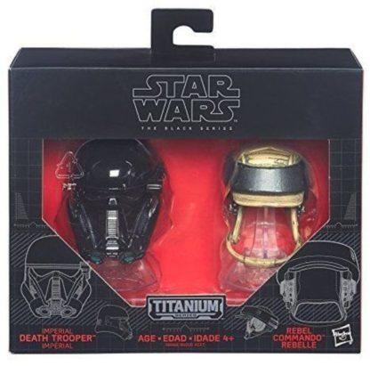 Deathtrooper Rebel Commando Helmets Disney Star Wars Diecast New In Box Front